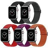 Vodtian Correa elástica ajustable para reloj compatible con Apple Watch 44 mm 42 mm, para hombre y mujer, de nailon trenzado, repuesto deportivo para iWatch Series 6/5/4/3/2/1, SE