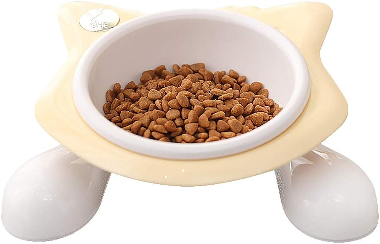 DSADDSD Pet Bowl Dog Cat Dual Use Bowl Bevel Water Bowl Rice Bowl Dining Table Pet Supplies (color   1 )