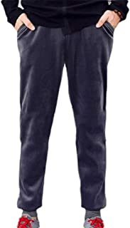 Mogogo Mens Casual Loose Velour Athletic-Fit Thicken Drawstring Jogger Pants