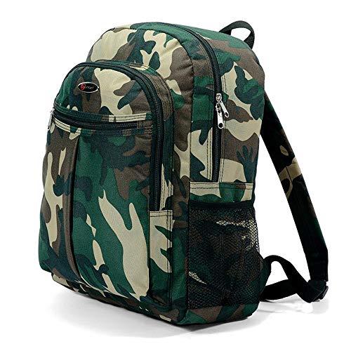 Benzi Rucksack Klassisch, Dschungel, Armee-Stil, Camouflage, Jungen, Mädchen, für Schule, College, Reisen, Urlaub, 20Liter Kapazität
