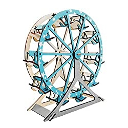 Image: Ferris Wheel Building Kit Set DIY 3D Wooden Creative Model Toy Jigsaw Puzzles, by Koozy