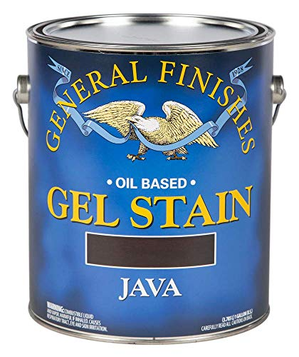 General Finishes Oil Base Gel Stain, 1 Gallon, Java