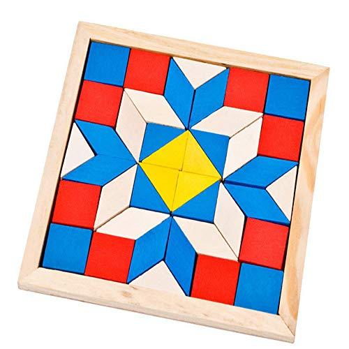 Wj Actualizar Tangram de Madera Bloques de construcción Grandes Puzzle de Siete...