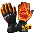 winna Heated Gloves for Women and Men, Battery Powered Electric Heated Motorcycle Gloves, Skiing,Hiking, Windproof, Touchscreen Enabled (X-Large) from winna
