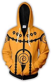 Naruto Six Paths Sage Mode Black and Yellow Zipper Hoodie Sweatshirt – Shippuden Boruto Cosplay