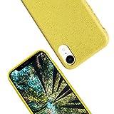 eplanita Eco Funda para iPhone XR, Biodegradable y Compostable, Fibra de la Planta y TPU Suave, Cubierta de Protección contra Caídas, Ecológico y Residuo Cero (Amarillo, iPhone XR)