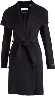 Women's Tahari Ellie Double Face Wool Blend Wrap Coat, Black