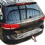 Recambo CT-LKS-2250 Protector para Borde de Carga de Acero Inoxidable Pulido para Volkswagen Golf 7 Variant a Partir de 2013 con Reborde, Large