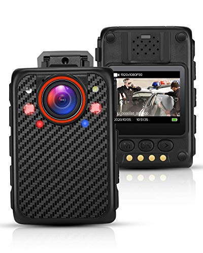 BOBLOV X1 Mini Body Camera Full 1080p Portable Body Camera Removable SD Card Up to 128GB Support Night Vision and Red/Blue Light Function for Police Patrol Small Body Camera Model(Card not Include)