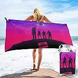 Actionfiguren Movie Hero Theme Wächter der Galaxie Badetuch Schnelltrocknendes Reisen Strand Camping Yoga Fitnessstudio Pool Handtücher Strandstühle Schnelltrocknendes weiches Handtuch 31,5 '' x63
