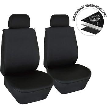 Duty Black Waterproof Car Seat Cover Protectors 2 x Fronts Jaguar XE H