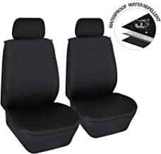 Elantrip Dual Waterproof Neoprene Front Seat Covers Car Bucket Seat Cover Universal Fit Airbag Compatible for Auto SUV Truck Van, Black 2 PC