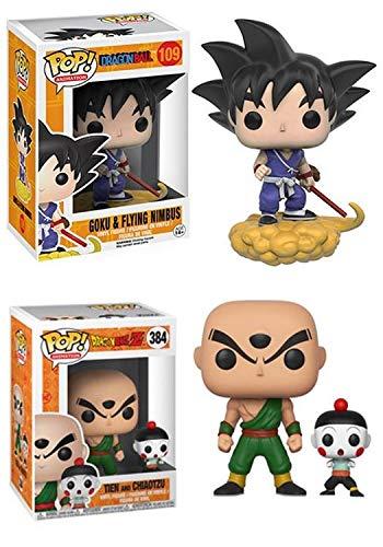 FunkoPOP!Dragon Ball: Goku y Flying Nimbus + Tien y Chiaotzu