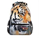 Tiger Oil Painting Outdoor Backpack for Teens Adults Lightweight Travel Backpack