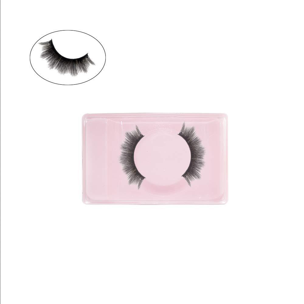 HEFUTE 50 PCS Pink Plastic Thick Eyelash Case Las Vegas Mall False Box 1 year warranty Storage