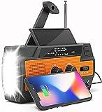 Weather Radio - Emergency Radio NOAA - Hand Crank Radio Flashlights for Emergencies AM/FM Solar Hand - Battery Operated Radio with Cell Phone Charger - Crank Radio [4000mAh] - Emergency Radio