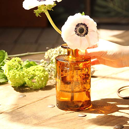 SPICEOFLIFE(スパイス)花瓶リサイクルガラスフラワーベースVALENCIAアンバー直径9cm高さ16cmスペインガラスVGGN1070AM