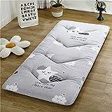 Colchones Colchón de piso japonés para adultos, colchón de dormir futón de colchón para piso, enrollar el colchón de camping de espuma de memoria, almohadilla de colchón de dormitorio estudiantil, tum