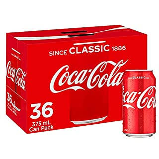 Coca-Cola Classic Soft Drink Multipack Cans 36 x 375mL (B07D89LCQ7) | Amazon price tracker / tracking, Amazon price history charts, Amazon price watches, Amazon price drop alerts