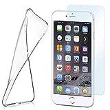 moex Aero Hülle mit Panzerglas für iPhone 6s / iPhone 6 - Hülle mit Schutzfolie, transparent - Crystal Clear