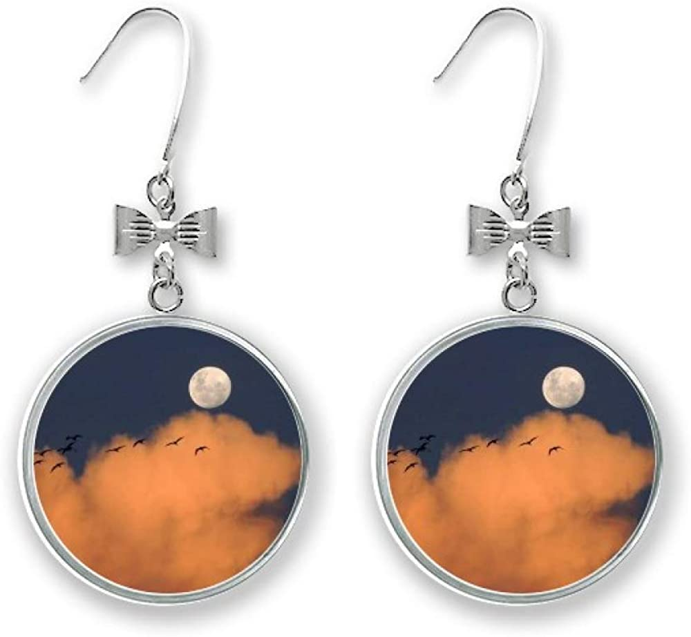 Moon Dark List price Night Clouds Art All items in the store Deco Fashion Earrings Gift S Drop Bow