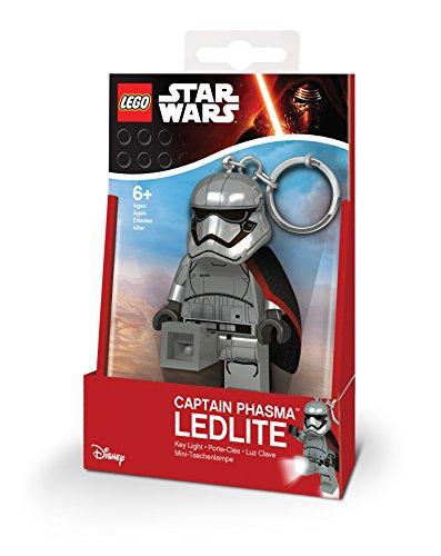 Star Wars Captain Phasma minitasc henlampe y Llavero de LEGO con ledes, 7.6 cm