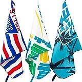 Nuoto Asciugamano Leggero da Viaggio Sea Free Microfibra Telo Mare Asciugatura Rapida Asciugamani Palestra per Uomo Donna Sport Campeggio Blu 150x80cm Teli da Mare Bagno