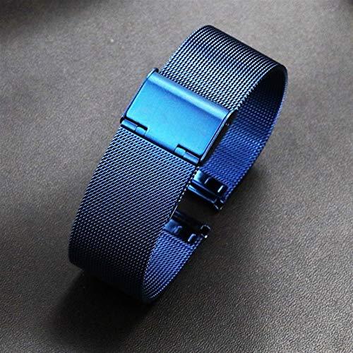CGGA 22 mm 20 mm de Reloj de Reloj para Samsung Galaxy Watch Active 2 Band para Samsung Gear S3 Strap para Samsung Galaxy Watch 42mm 46mm Reloj de Reloj (Band Color : Blue, Band Width : 18mm)