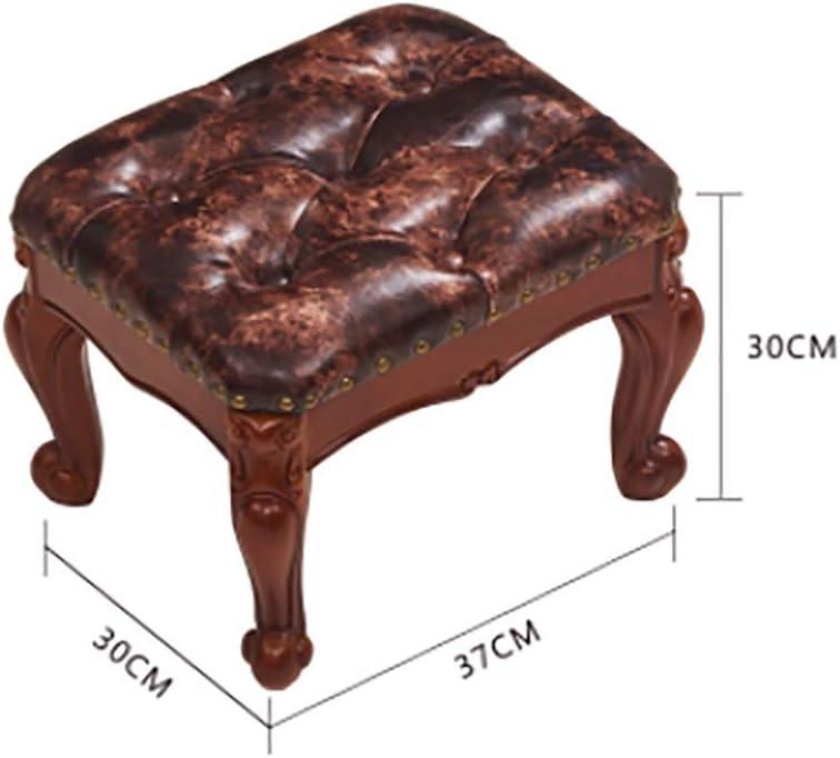 Tabouret En Bois Massif Maison De Luxe Américain Petite Chaise Canapé Petit Tabouret Banc De Salon De Style Européen (Couleur : 4) 3