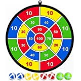 Lbsel Kids Game Dart Board - 8 Sticky Balls - Excellent Indoor Game and Party Games - Ages 3 Year Old and Up...