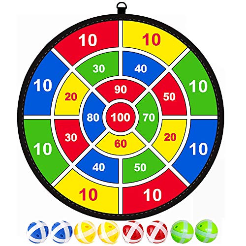 Lbsel Kinderspiel Halloween Party Thema Dart Board mit 8 Bällen Kinder Brettspiele Toy-Safe Dart Game-Kinder Geschenk Outdoor Indoor Spiel Wahl--13.8 inches