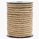 HOMYHOME Jute Rope Natural Jute Twine 10MM Rope Cord Craft 49.2ft for Packaging Arts Crafts Decoration Bundling Gardening Home Cat Scratching Post