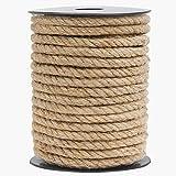 HOMYHOME Cuerda Yute Natural 8mm Cuerda cañamo artesanía para Industrial, Embalaje, Artes y Manualidades, Regalos, decoración, empaquetamiento, jardinería y hogar Cuerda de Yute 49.2ft