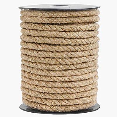 HOMYHOME Jute Rope Natural Jute Twine 8mm 590 i...