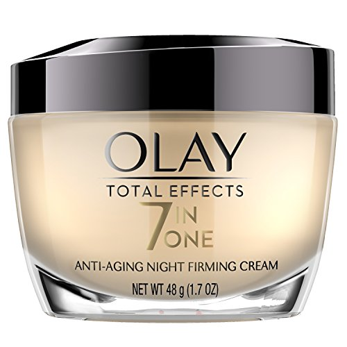 Olay Total Effects Anti-Aging Night Firming Cream & Face Moisturizer with Vitamin C & E, 1.7 Fluid Ounce