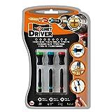 MAGNET DRIVER® SOPORTE MAGNETICO PARA TORNILLOS B33 PH, un blister que contiene 3 puntas PH y 3 magnet driver sujeta tornillos imantados