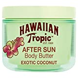 Hawaiian Tropic AfterSun Body Butter Exotic Coconut - Crema Corporal After Sun con aroma fresco de Coco, fórmula hipoalergénica de hidratación intensa, formato 200 ml
