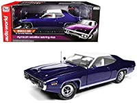Auto World 1971 Plymouth Satellite Sebring Plus MCACN Purple with White Roof Limited Edition to 1002 pieces Worldwide 1/18 Diecast Model Car by AMM1146 商品カテゴリー: ダイキャスト [並行輸入品]