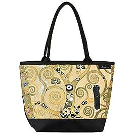 VON LILIENFELD Cabas Besace Gustav Klimt L'arbre de vie Sac Bandoulière Spacieux Sacs Portés Èpaule Cabas Décontractés…