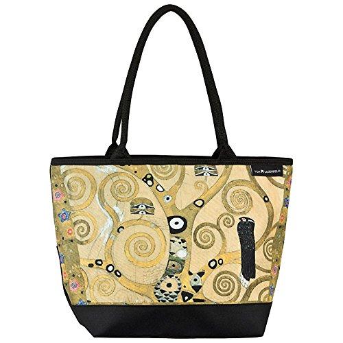 VON LILIENFELD® Borsa Shopping Donna Tracolla Spazioso Saccoccia Spiaggia Shopper Gustav Klimt: Albero della vita