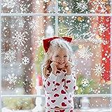 100 Piezas Pegatinas Ventana Copos de Nieve de Feliz Navidad| Reutilizable, Autoadhesivo, Impermeable, PVC Estático| Adornos Decoración Navideña para Ventanas de Hogar Oficina Cafetería Escaparates.
