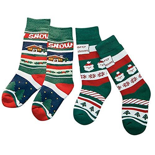 Dasongff Unisex kindersokken, dames en heren, grappige sokken, grappige sokken, schattige dieren, karikatuur, sokken, katoen, 2 paar
