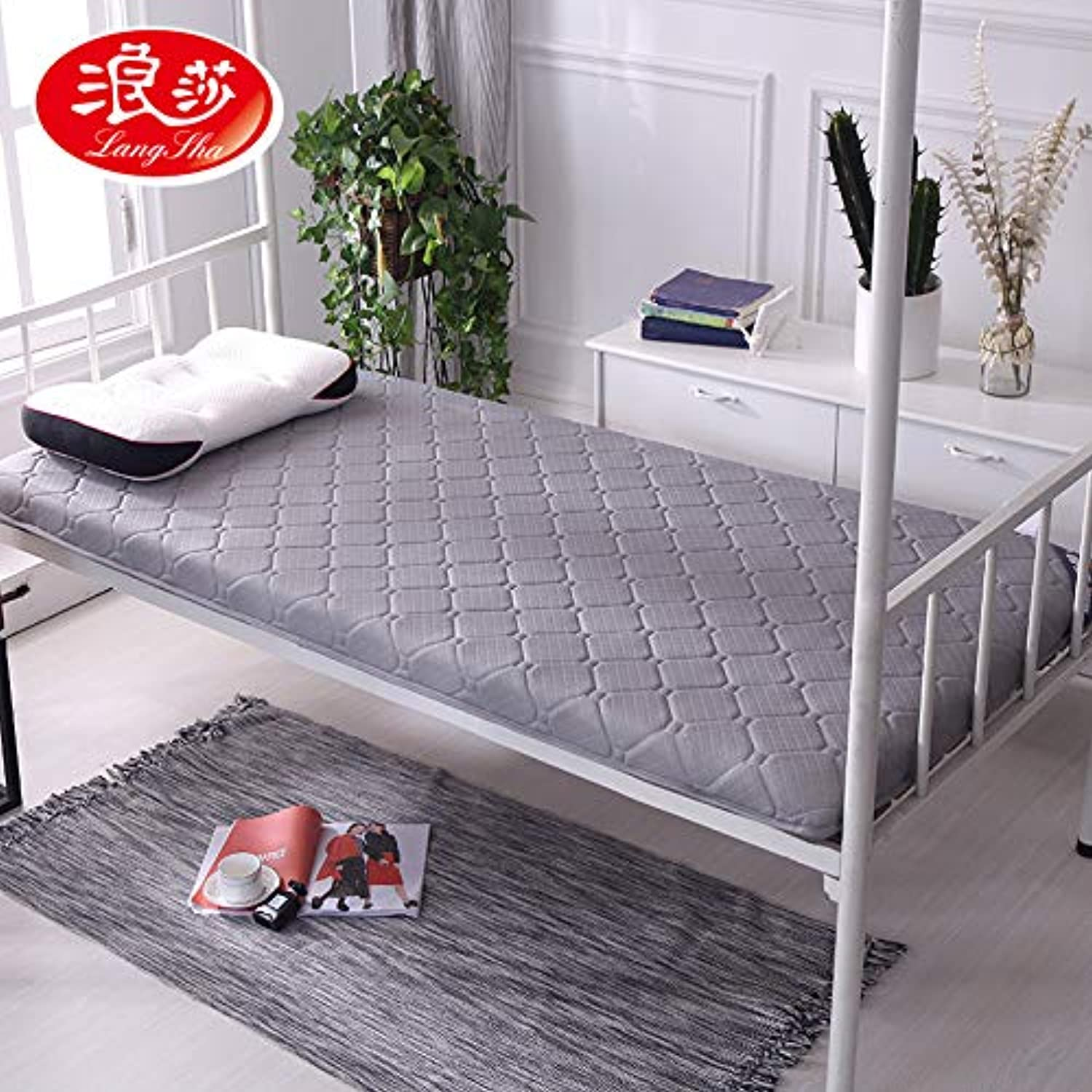 Lang Sha Jia Thick Mattress Dormitory 1.8m 1.5m 1.2 m Single Double Tatami Mattress Foldable