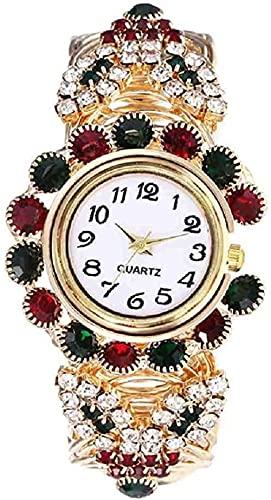 JZDH Einzeigeruhr Armbanduhr Mode Frauen Armbanduhr Luxus Edelstahl Quarz Armbanduhr Sommer Golod Bangel DesignWatches Reloj Mujer Zufällige Dekorative Uhren (Color : Mix)