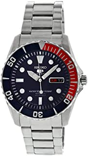 Seiko 5 Sports SNZF15 J1 Black Dial Stainless Steel Men's Automatic Analog Watch