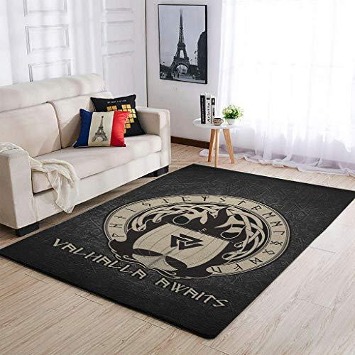 Knowikonwn Alfombra tradicional de mitología del sol vikingo, para guardería, color blanco, 122 x 183 cm