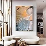 QWESFX Espacio en Espiral Abstracción Pintura Pinturas de Gatos en Lienzo Pinturas Set Lienzo estirado para Pinturas para dormitorios (Imprimir sin Marco) A1 35x70CM