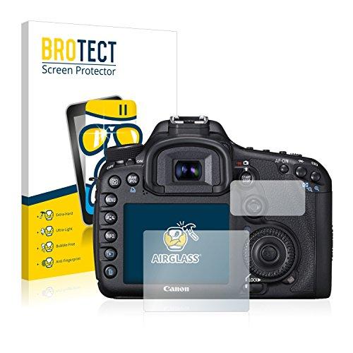 BROTECT Panzerglas Schutzfolie kompatibel mit Canon EOS 7D - AirGlass, 9H Härte, Anti-Fingerprint, HD-Clear