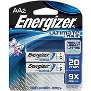 "Energizer L91BP-2 EVEL91BP2 - E Lithium Batteries, .5"" Height, 3.25"" width"
