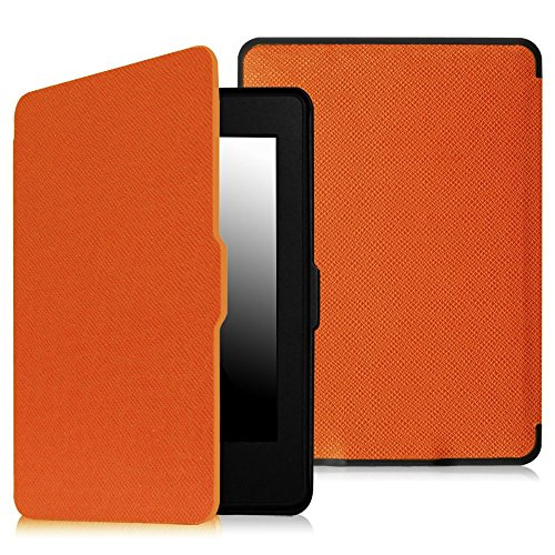 Fintie Slimshell Case for Kindle Paperwhite - Fits All Paperwhite Generations Prior to 2018 (Not Fit All-New Paperwhite 10th Gen), Orange